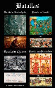 Historia del pueblo Godo: Batallas y Guerras- Guerras y Batallas