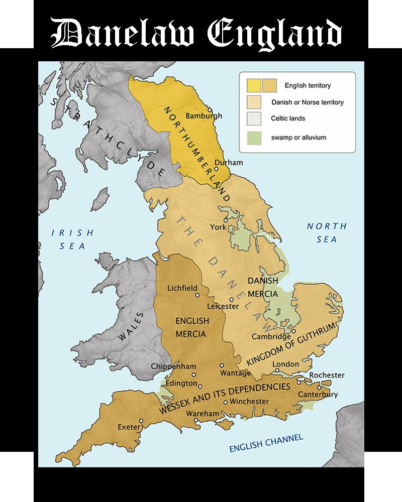 Somos Godos - Geografía Danelaw England