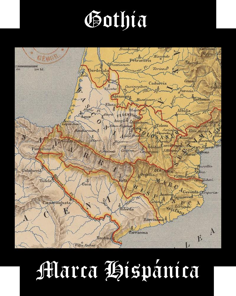 Somos Godos - Geografía Marquesado de Gotthia / Marca Hispánica
