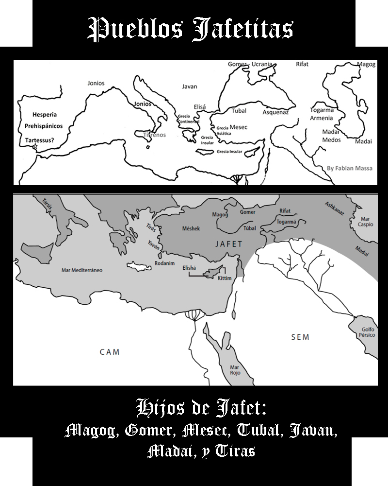 Somos Godos - Geografía / Pueblos Jafetitas