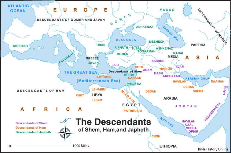 Somos Godos - Geografía / Pueblos Jafetitas - Descendientes de Japhet