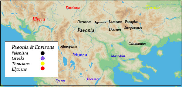 Paenonian Tribes map