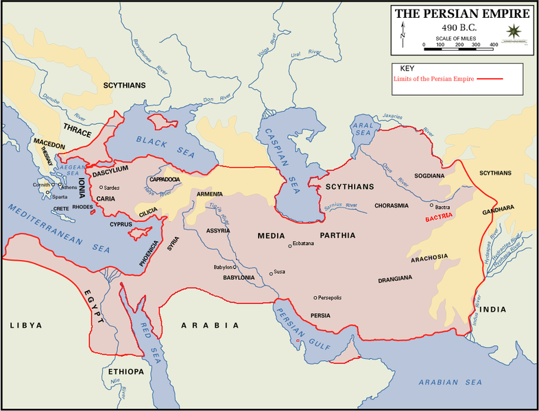 Persian Empire 490 bC