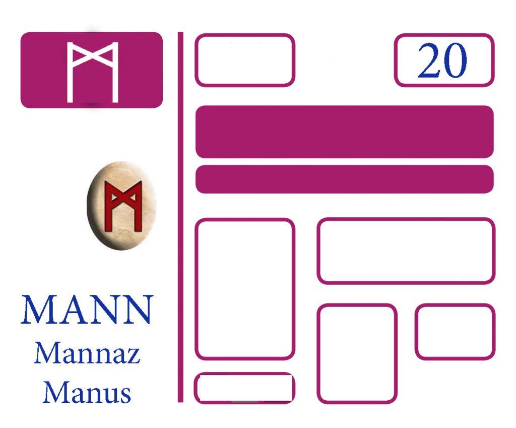 Somos Godos - Lenguaje Runa Mann / Mannaz