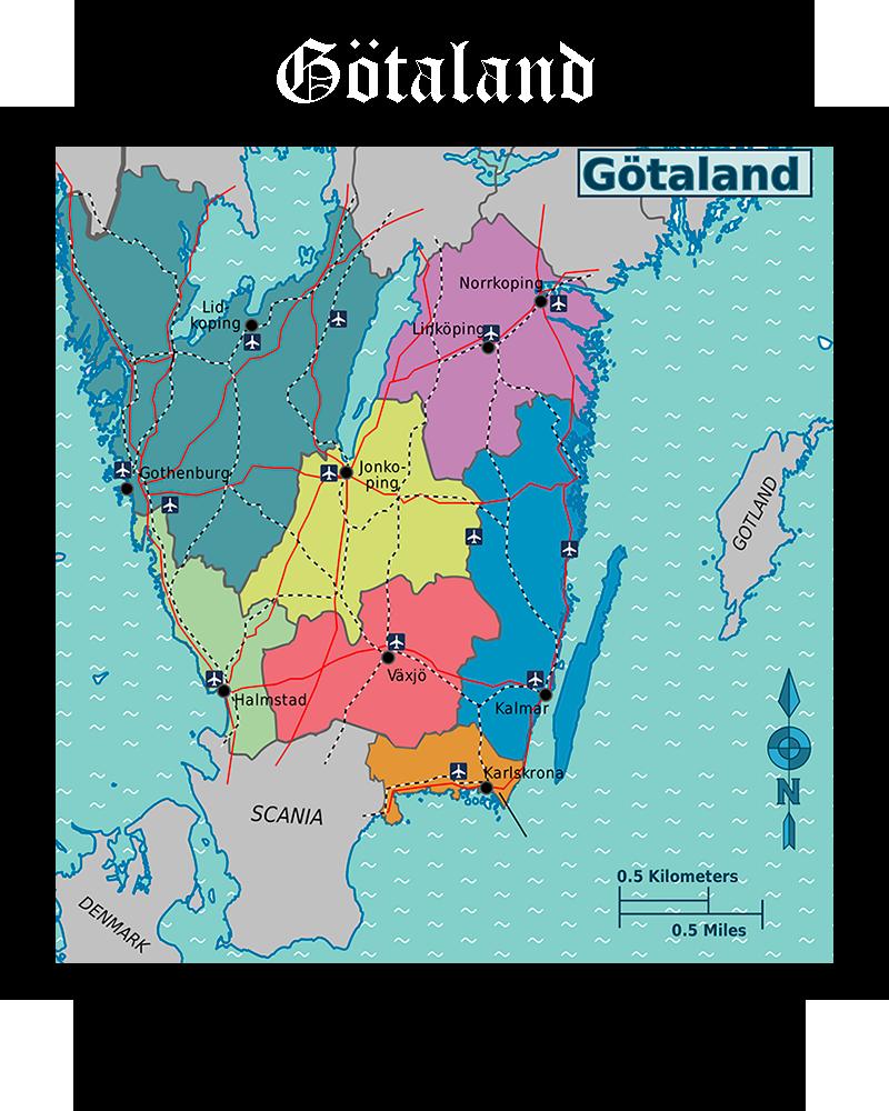 Somos Godos - Geografía - Territorios / Götaland