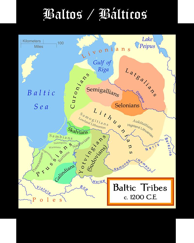 Somos Godos - Geografía - Pueblos y Tribus / Baltos - Bálticos