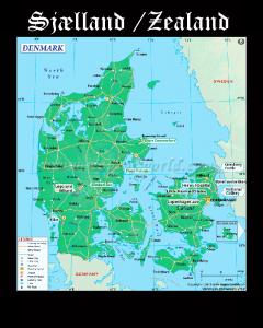 Somos Godos - Geografía - Territorios / Selandia / Zealand / Sjælland