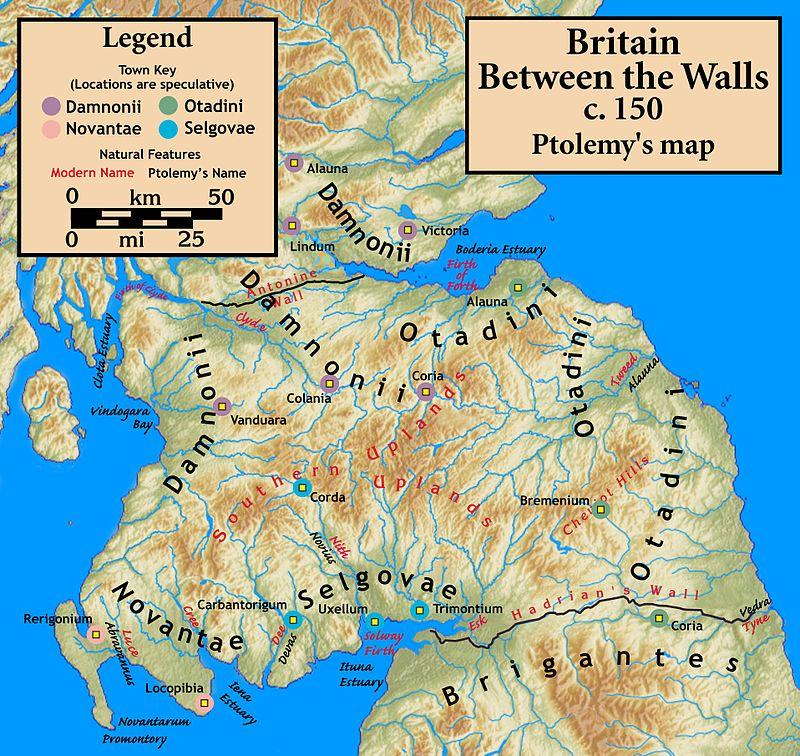 Tribus Celtas en Britania / Damnonii