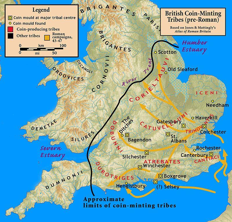 Tribus Celtas en Britania / Dumnones - Dumnonii