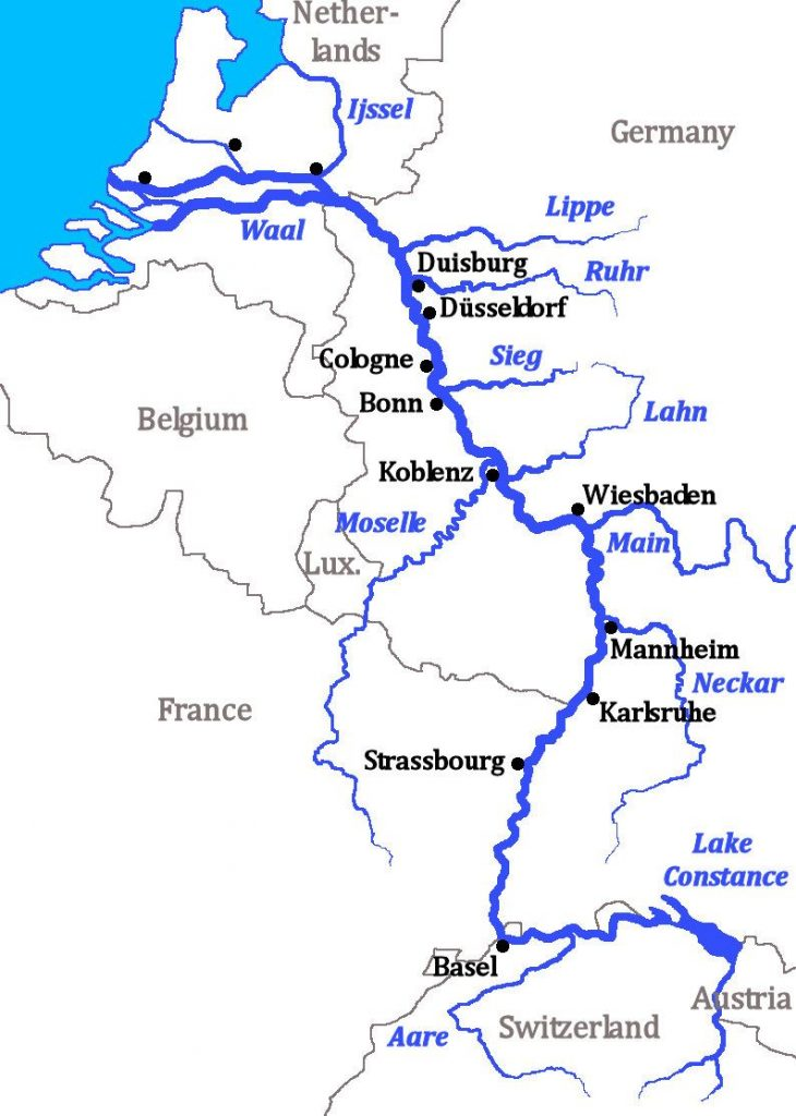 Río Sieg, afluente del Rhin