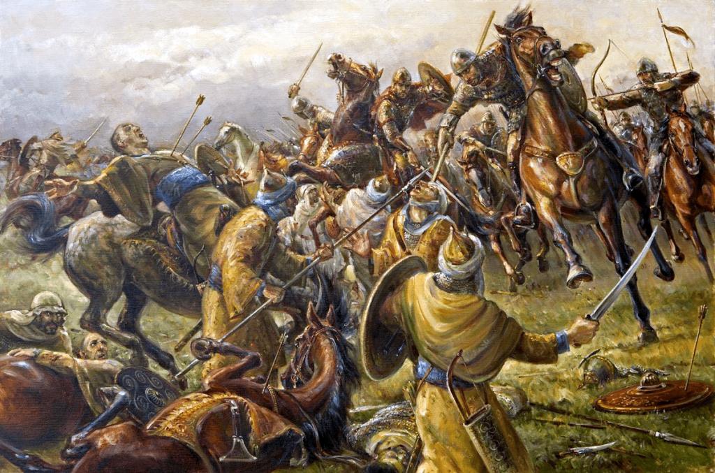 Eudes I de Aquitania . La Batalla de Poitiers año 732