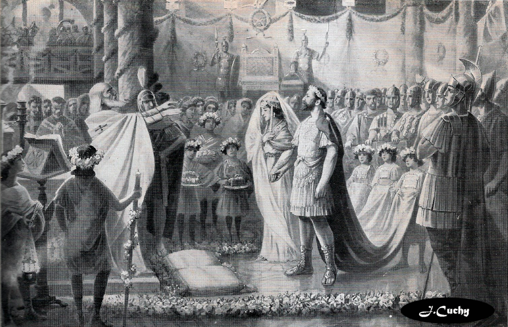 Boda de Rey Visigodo Athaulfo con Gala Placidia