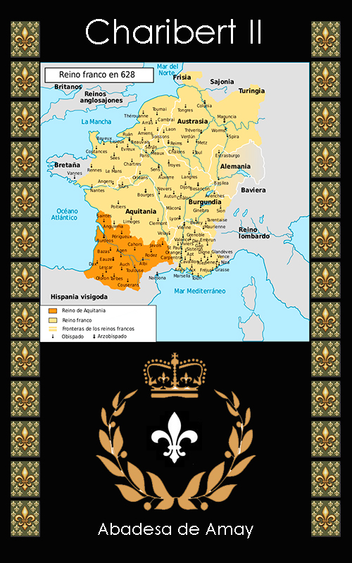 Charibert II Rey Merovingio de Aquitania