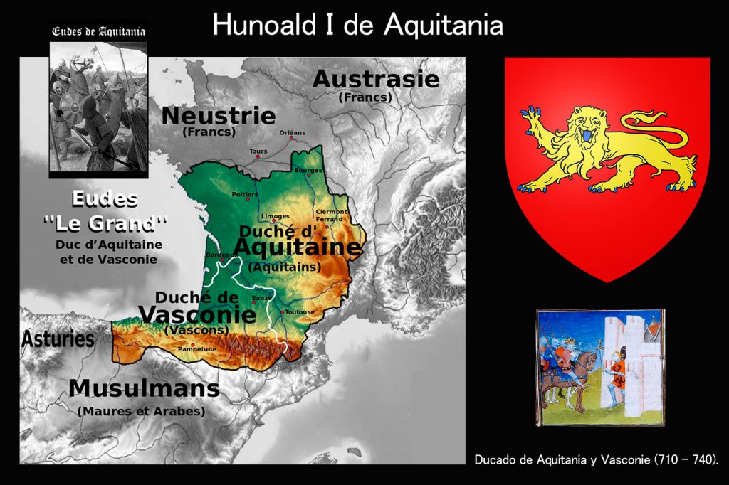 Hunoald I de Aquitania, hijo de Eudes I