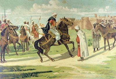 Musa ibn Nusayr castiga a Tarik en Talavera