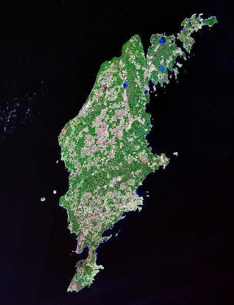 Isla de Gotland satélite