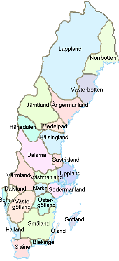Landskap Sweden