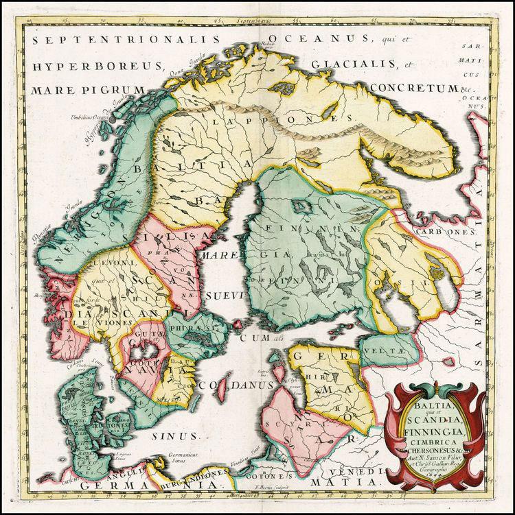 Baltia, Scandia, Finningia, Cimbrica Chersonesus- 1694