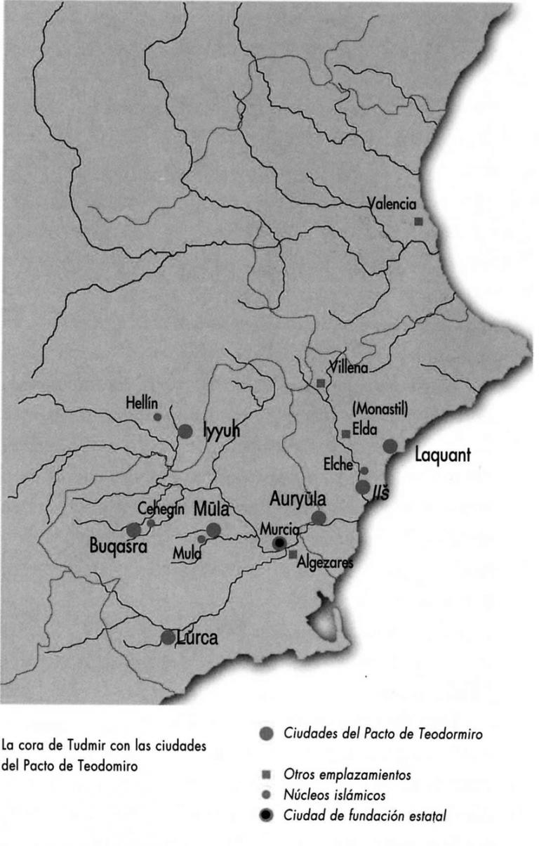Pacto de Tudmir (713) - delimitación geográfica