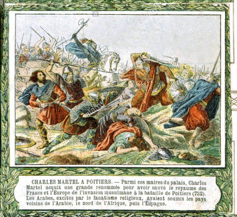 Carlos Martel - Batalla de Poitiers (732)