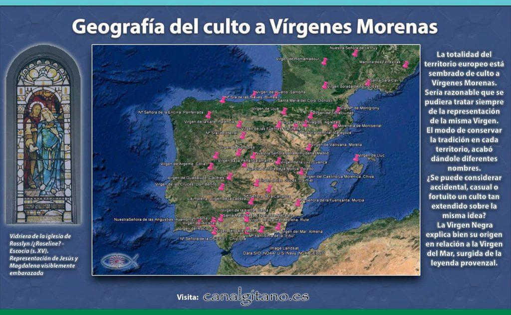 Geografía del culto a las Vírgenes Morenas