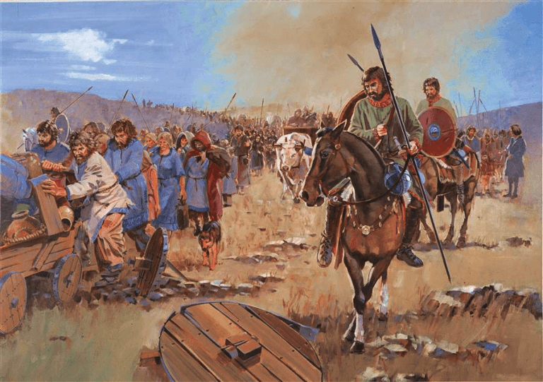 Visigodos dirigiendose al Danubio