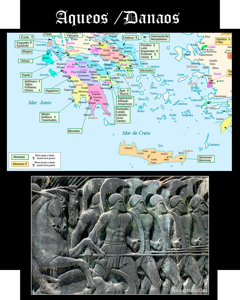 Somos Godos - Geografía - Pueblos y Tribus / Aueos- Danaos- Helenos - Argivos