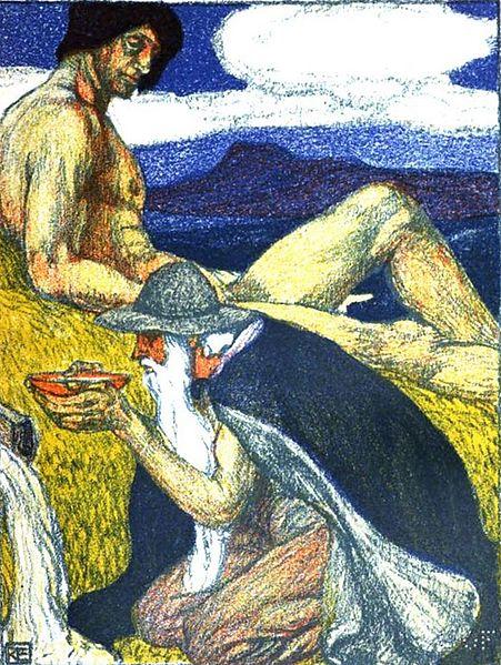 Odin en la fuente Mimir