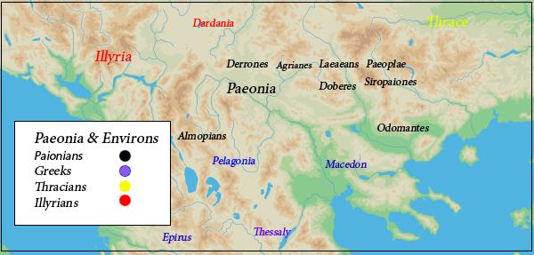 Paenonian Tribes map
