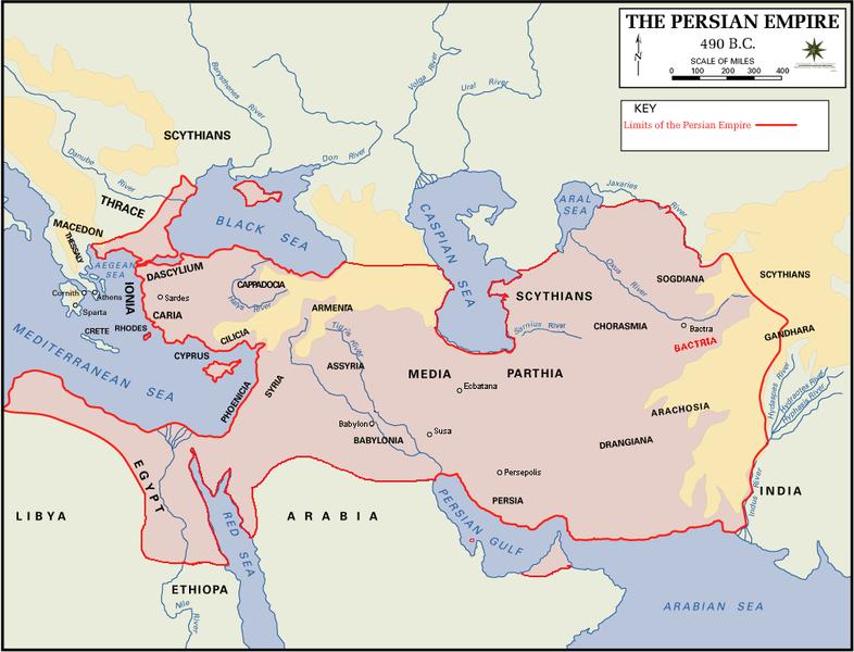 Persian Empire 490 bC