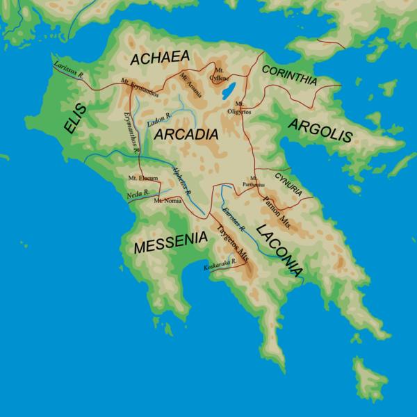 Somos Godos - Geografía - Pueblos y Tribus / Aueos- Danaos- Peloponeso