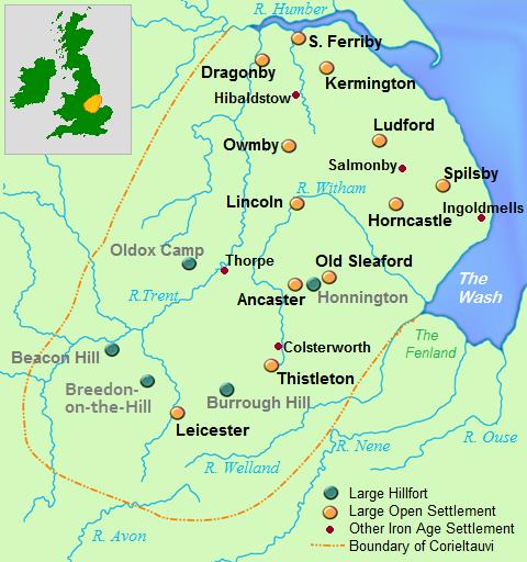 Tribus Celtas en Britania / Coritanos o Corieltavi