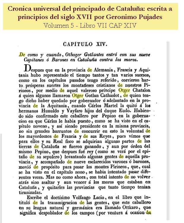 Otger Gothland Cathaló - Crónica universal del principado de Cataluña - Escrita a principios del siglo XVII por Geronimo Pujades