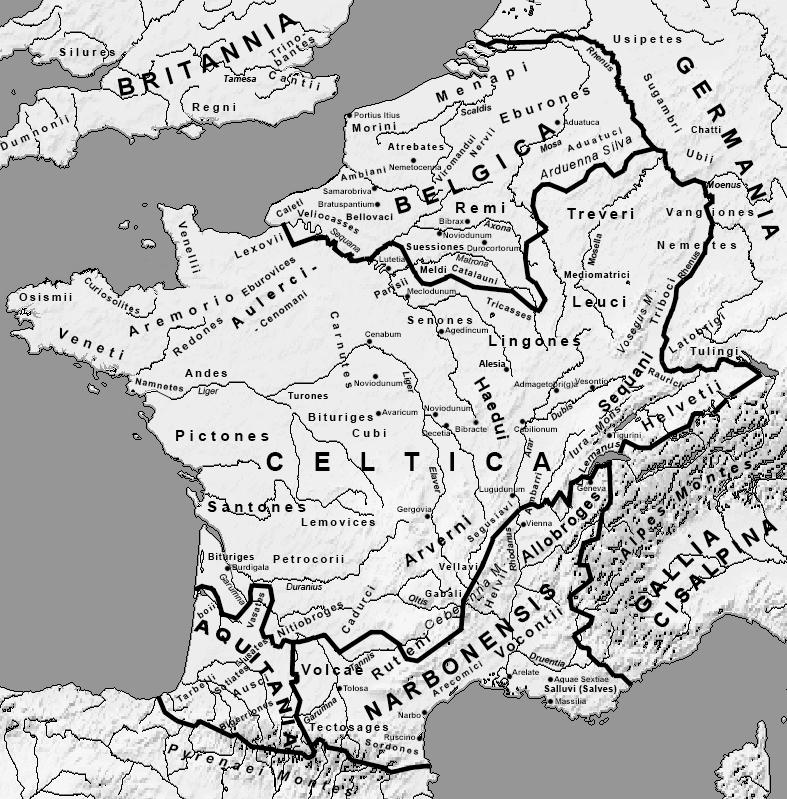 Somos Godos - Geografía - Territorios / Galos / Welsh