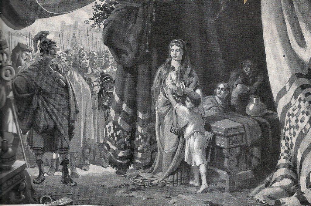 Dietlinde Balthes, esposa e hijos de Alarico -prisioneros de Honorio en año 402 d.C.