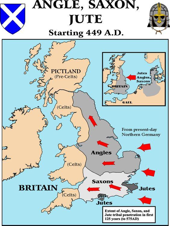 Pueblos y Tribus Germánicos / Jutos en Bretaña