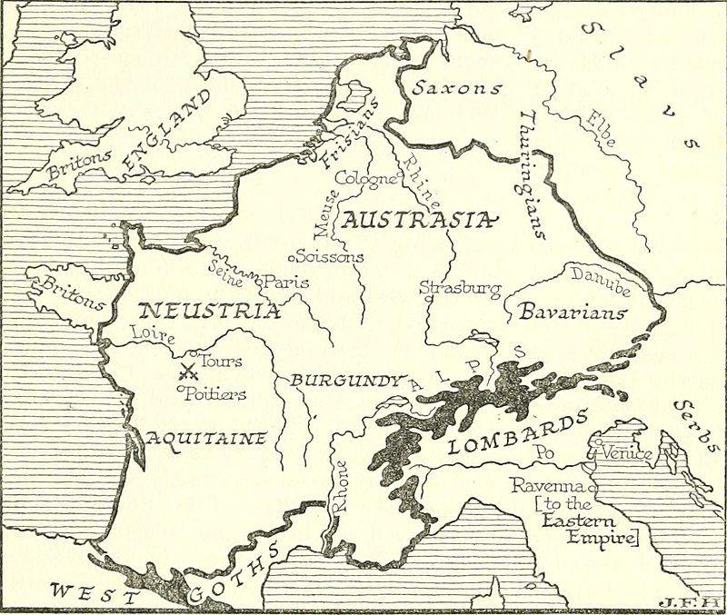 Territorio de los Francos Merovingios