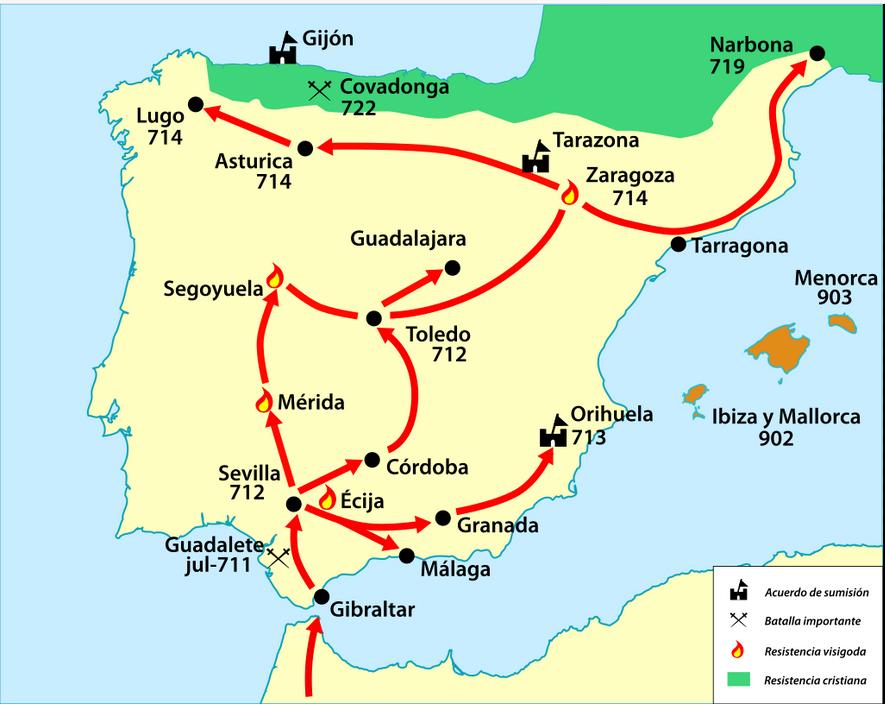 Conquista musulmana de la península ibérica-711
