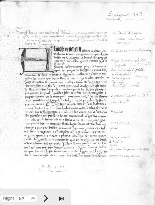 Otger Gothland Cathaló -Histories e conquestes dels Reys de Arago e Comtes de Barcelona