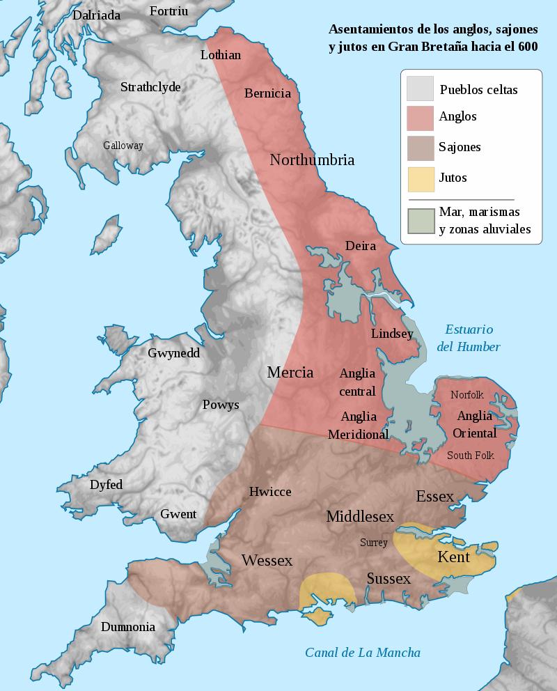 Britania en el años 600 dC