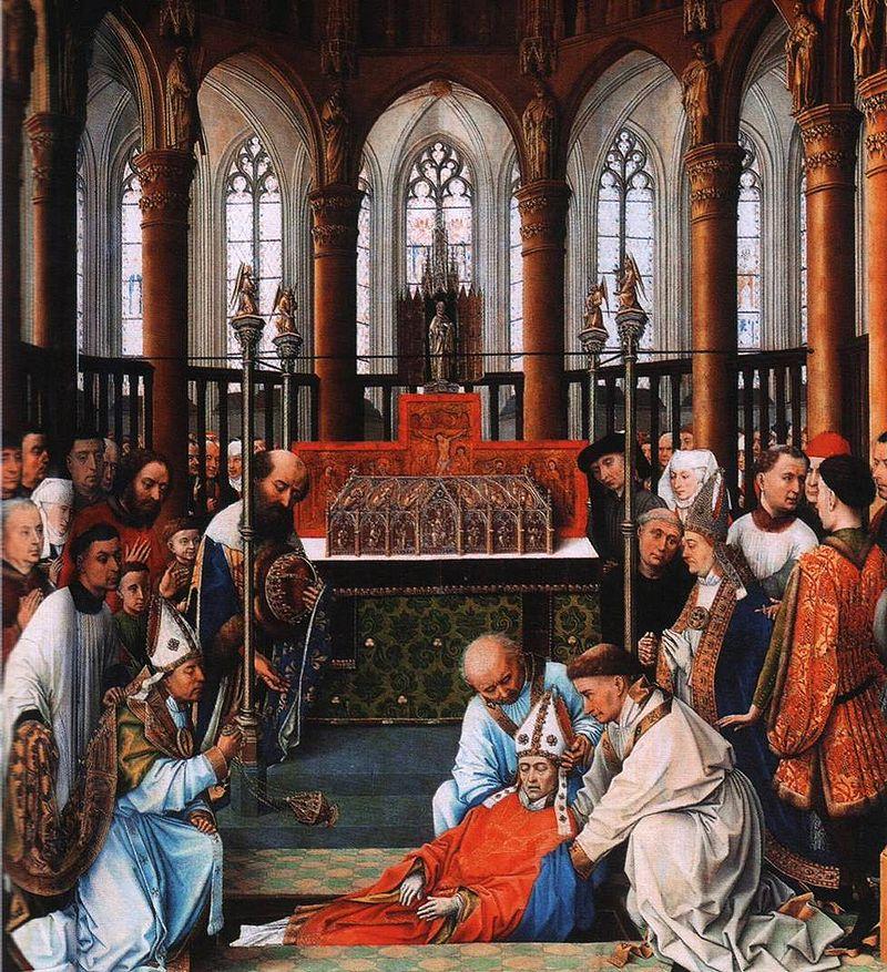 Exhumación de San Huberto de Lieja