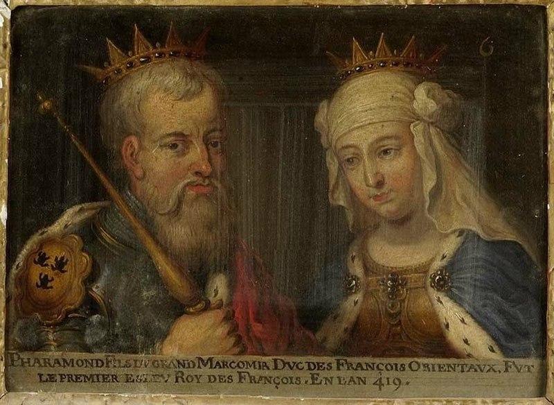 Rey Merovingio Phharamond y Argotta de Jilland