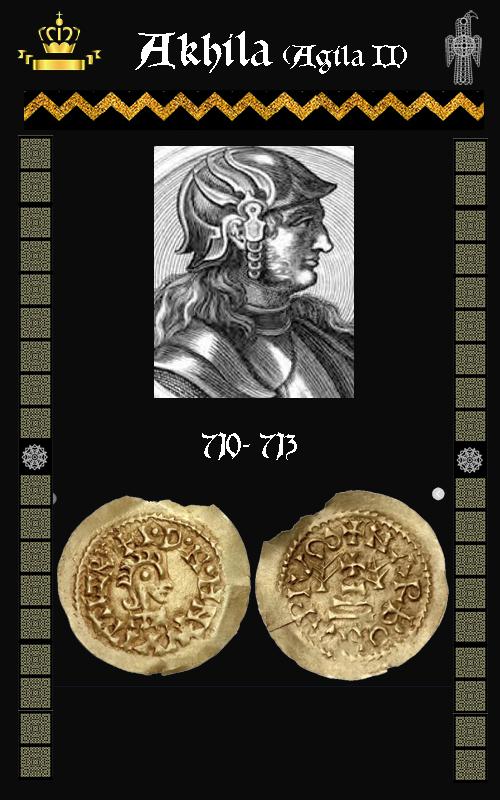 Rey Visigodo Akhila II (Agila II)