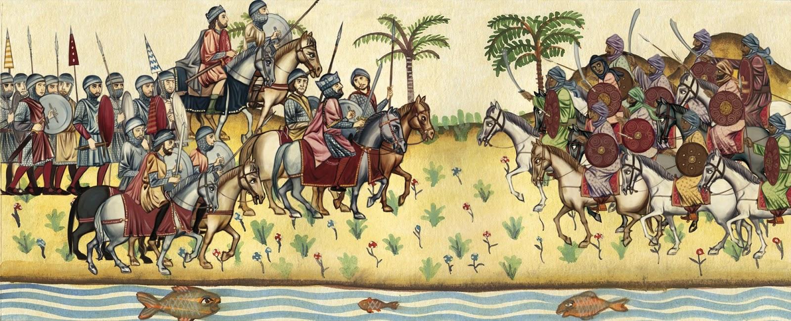 El final del Rey Visigodo Roderic (rODRIGO) - Batalla de Guadalete