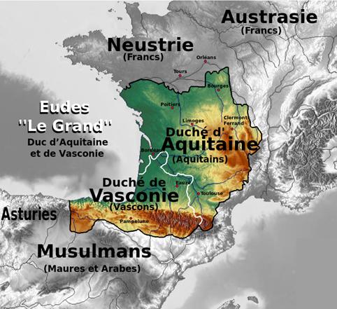 Aquitania y Vasconia - Territorios de Eudes I (Odón el Grande)