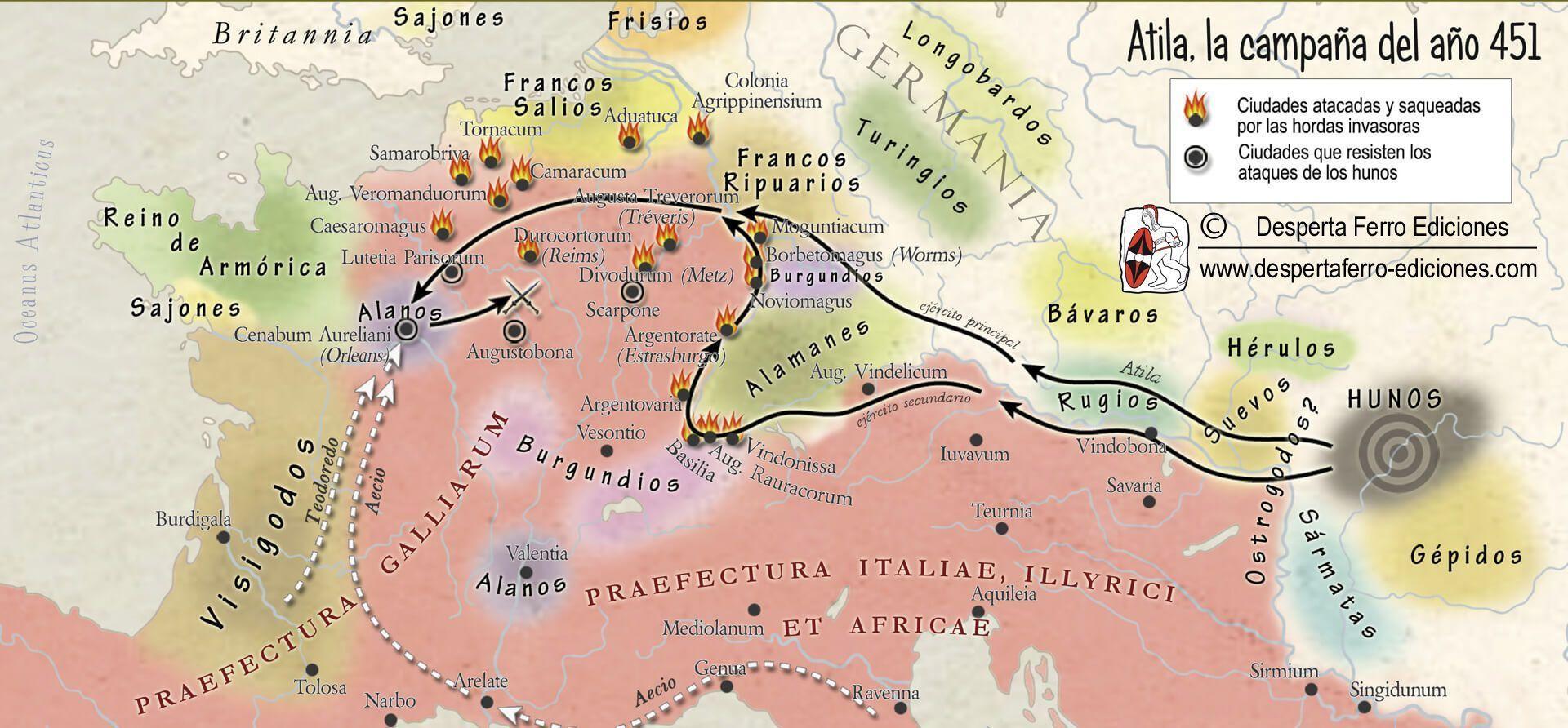 Batalla de Chalons (Campos Catalaúnicos) 451