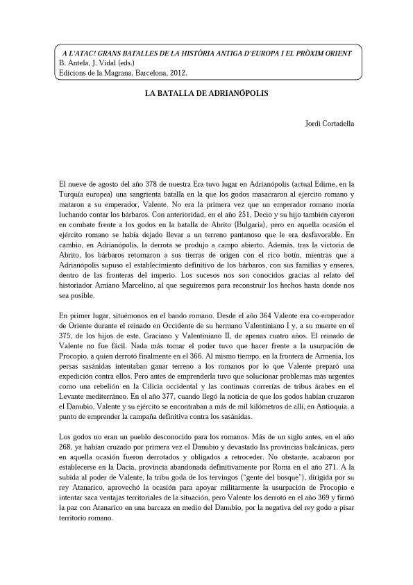 PDF La Batalla de Arianópolis - Jordi Cortadella