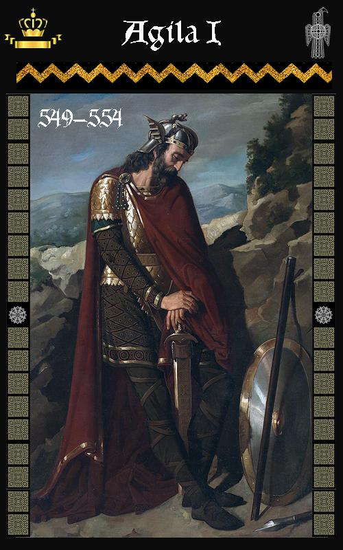 Rey Visigodo Agila I (549-554)