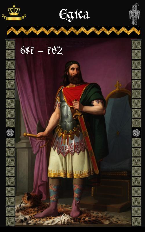 Rey Visigodo Egica (687-702)