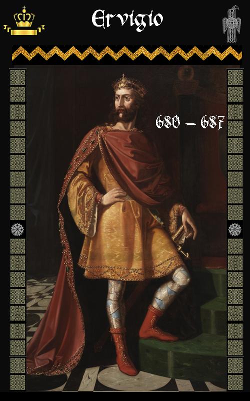 Rey Visigodo Ervigio (680-687)
